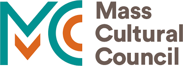 Mass Cultural Council logo. A stylized letter M and C drawn in lines of green and orange.
