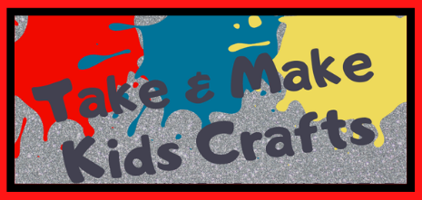 Take and Make Kids Crafts. Red, blue, and yellow paint spilled onto a gray sidewalk.